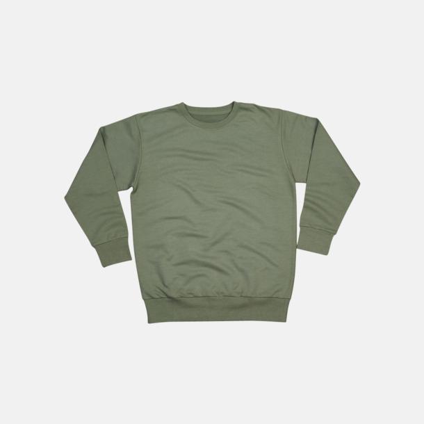 Soft Olive Tröjor i ekobomull & rPET för herr - med reklamtryck