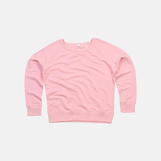 Soft Pink Tjocktröjor i ekobomull & rPET för dam - med reklamtryck