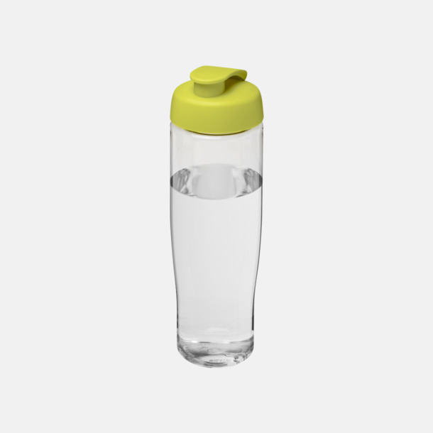 Transparent/Lime 70 cl flaskor i återvunnet material med reklamtryck
