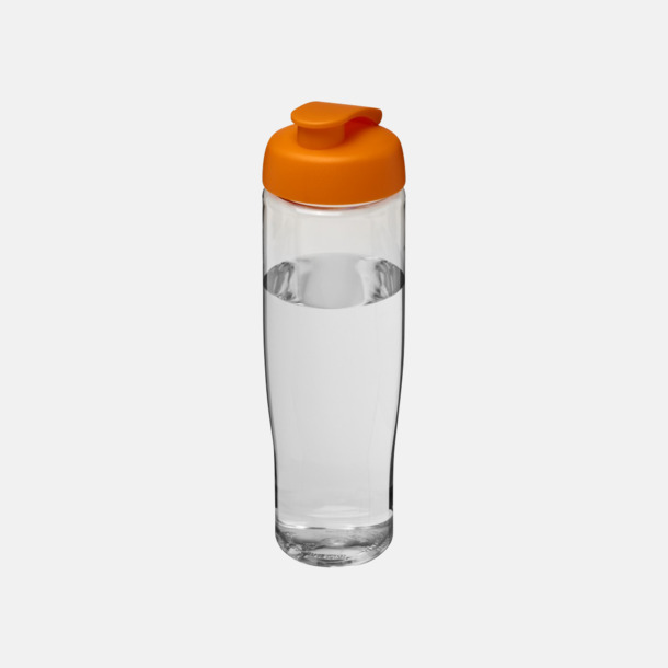 Transparent / Orange 70 cl flaskor i återvunnet material med reklamtryck