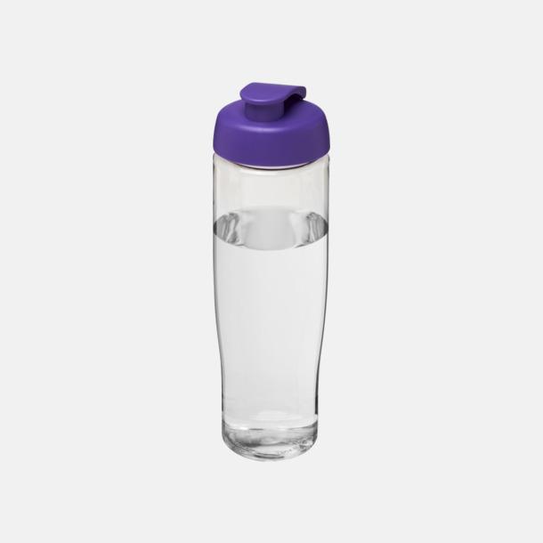 Transparent / Lila 70 cl flaskor i återvunnet material med reklamtryck