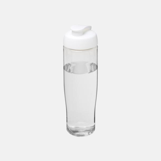 Transparent / Vit 70 cl flaskor i återvunnet material med reklamtryck