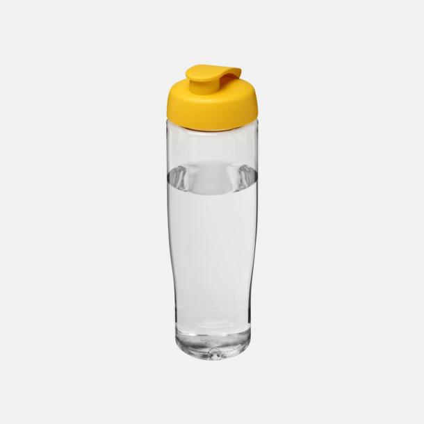 Transparent / Gul 70 cl flaskor i återvunnet material med reklamtryck