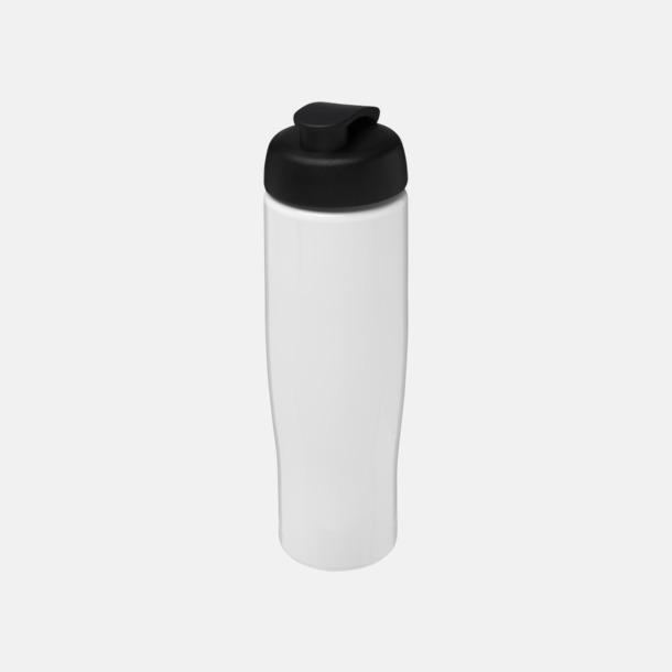 Vit / Svart 70 cl flaskor i återvunnet material med reklamtryck