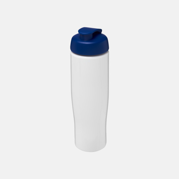 Vit / Blå 70 cl flaskor i återvunnet material med reklamtryck