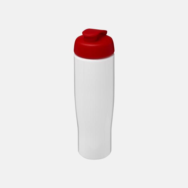 Vit / Röd 70 cl flaskor i återvunnet material med reklamtryck