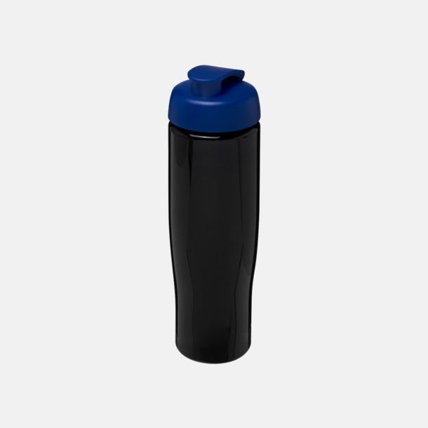 Svart / Blå 70 cl flaskor i återvunnet material med reklamtryck