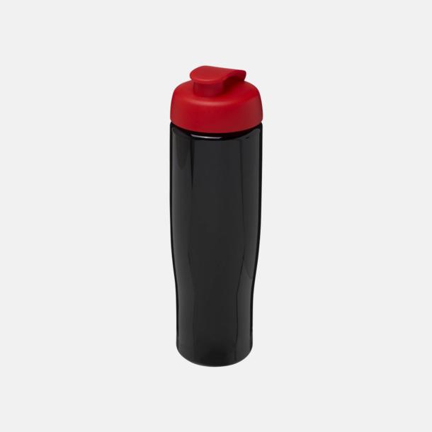 Svart / Röd 70 cl flaskor i återvunnet material med reklamtryck