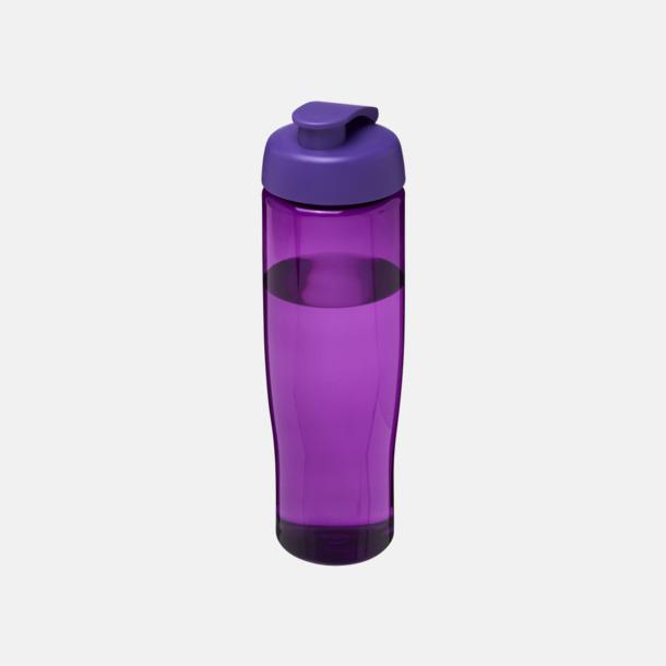 Lila 70 cl flaskor i återvunnet material med reklamtryck