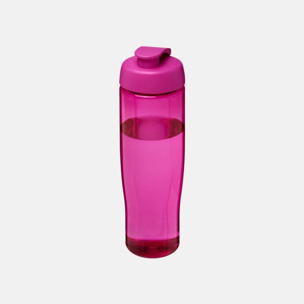 Rosa 70 cl flaskor i återvunnet material med reklamtryck