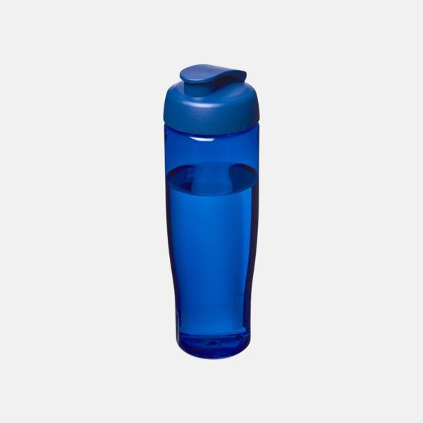 Blå 70 cl flaskor i återvunnet material med reklamtryck