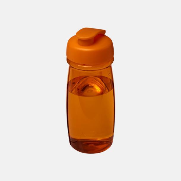 Orange 60 cl flaskor i återvunnet material med reklamtryck