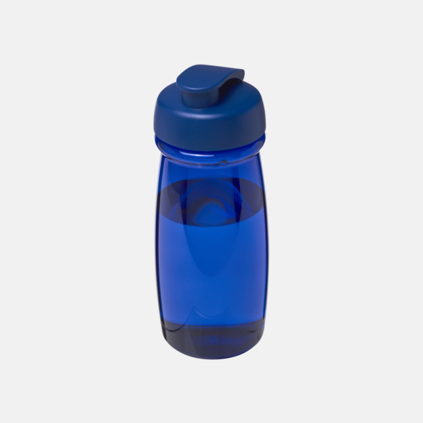 Blå 60 cl flaskor i återvunnet material med reklamtryck