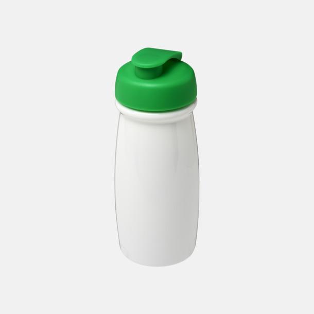Vit / Grön 60 cl flaskor i återvunnet material med reklamtryck