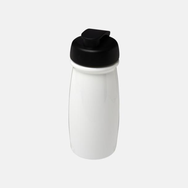 Vit / Svart 60 cl flaskor i återvunnet material med reklamtryck