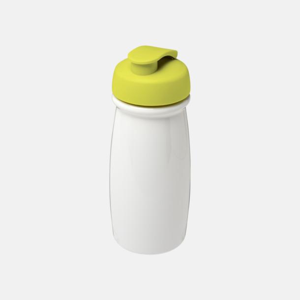 Vit/Lime 60 cl flaskor i återvunnet material med reklamtryck