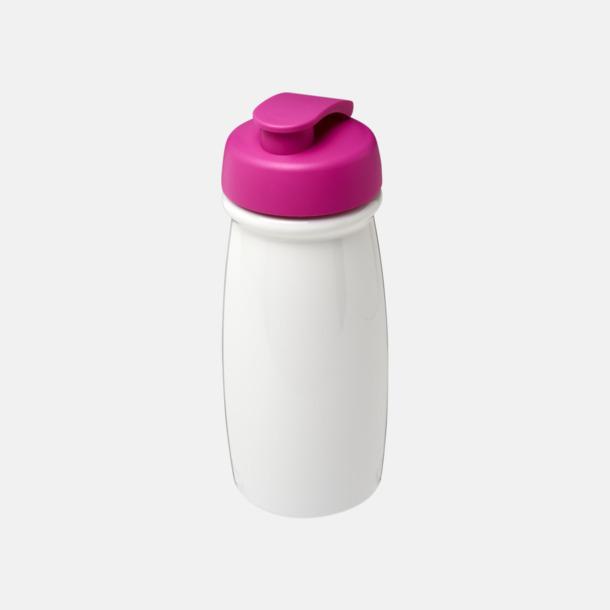 Vit / Rosa 60 cl flaskor i återvunnet material med reklamtryck