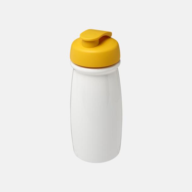 Vit / Gul 60 cl flaskor i återvunnet material med reklamtryck