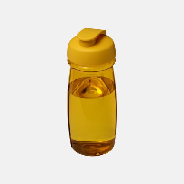 Gul 60 cl flaskor i återvunnet material med reklamtryck