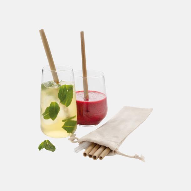 Återanvändningsbara bambusugrör med reklamtryck