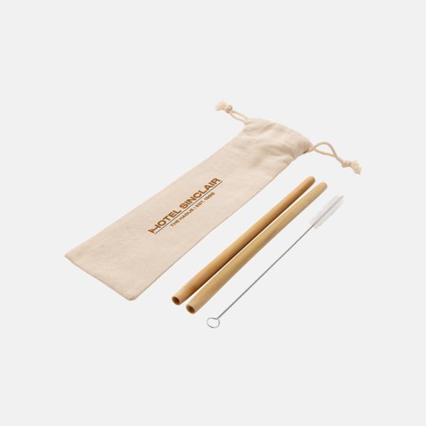 Med reklamtryck Återanvändningsbara bambusugrör med reklamtryck