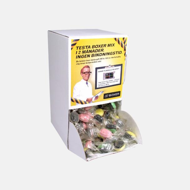 Godisautomat med etikett (se tillval) Mintkolor med reklamtryck