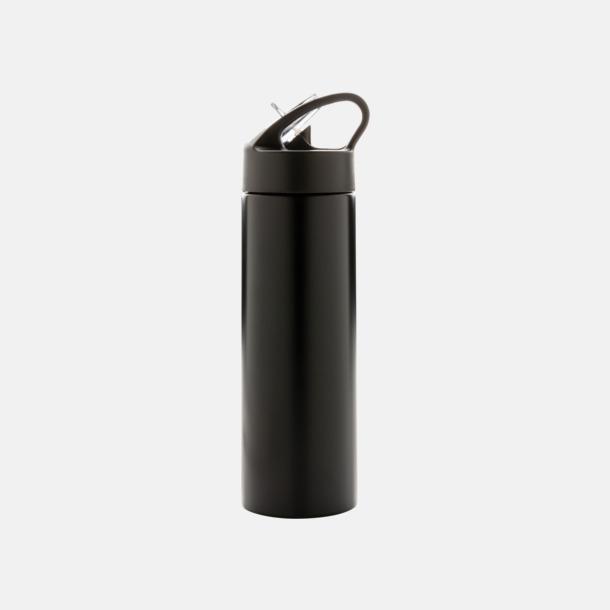Svart Vattenflaskor av stål med eget tryck