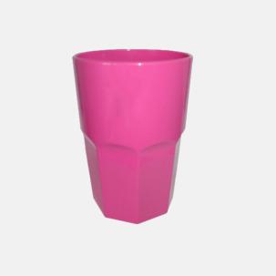 Stapelbara plastglas i 2 storlekar med reklamtryck