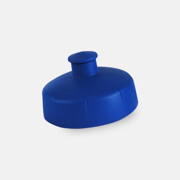Blått push-pull lock Praktiska & snygga vattenflaskor med reklamtryck
