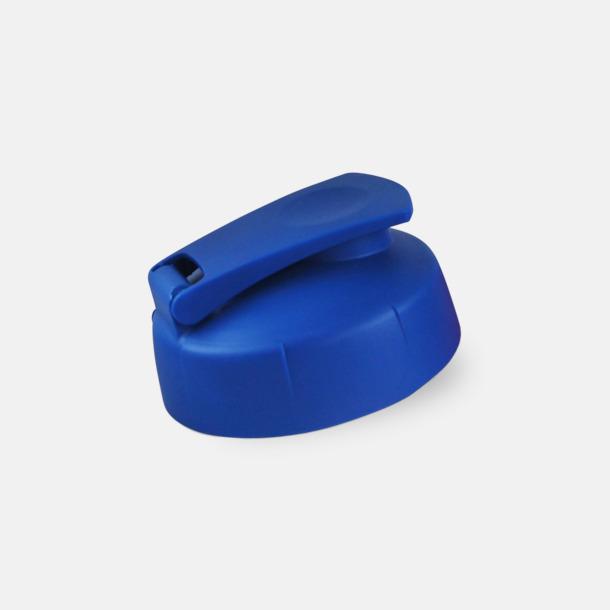 Blått flipkapsyl-lock 55 cl vattenflaskor med reklamtryck