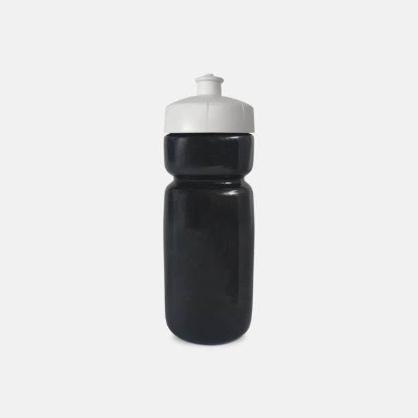 Svart Populära vattenflaskor i bioplast med reklamtryck