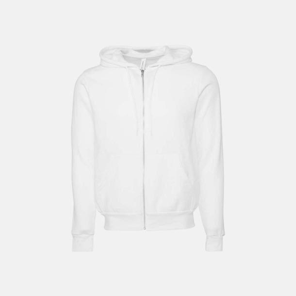DTG White Blixtlåsförsedda unisex huvtröjor med reklamtryck