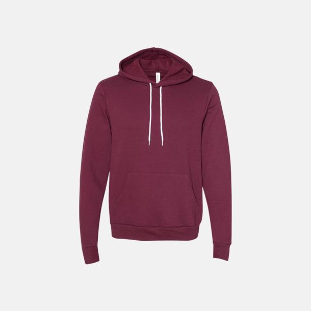 Maroon Unisex fleece hoodies med reklamtryck