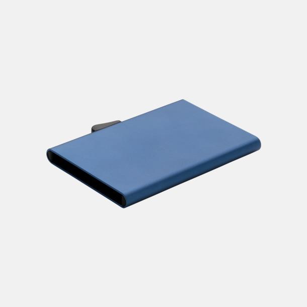 Blå RFID-säkra korthållare med reklamtryck