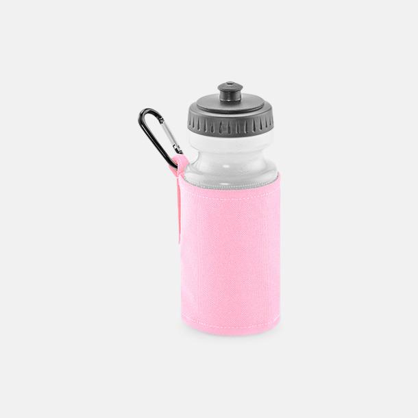 Classic Pink Vattenflaska med hållare - med reklamtryck