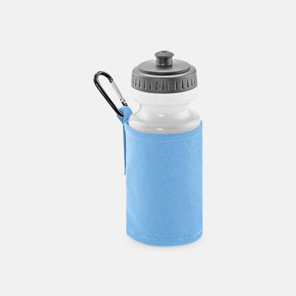 Sky Blue Vattenflaska med hållare - med reklamtryck