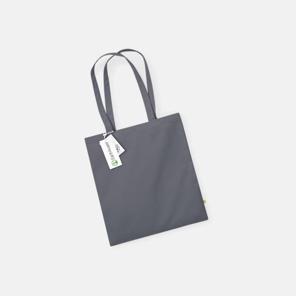 Graphite Grey Ekologiska bomullspåsar med reklamtryck