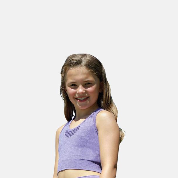 Barnmodell Sömlösa sporttoppar med reklamtryck