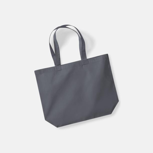 Graphite Grey Stora bomullskassar med eget tryck