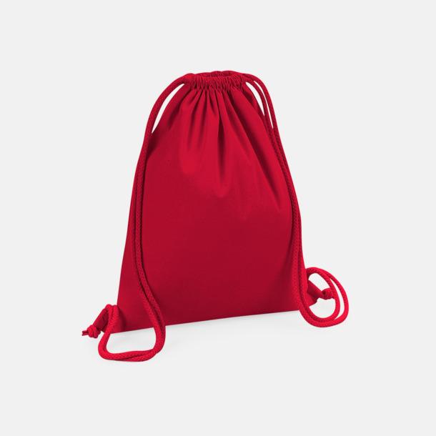 Classic Red Eko premiumbomull gympapåsar med reklamtryck