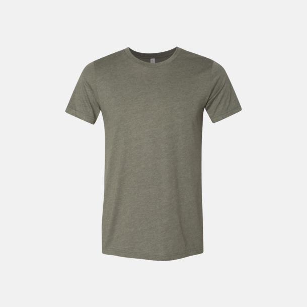 Heather Military Green T-shirts för herr och dam - med reklamtryck