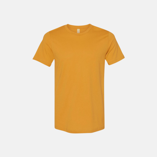 Mustard T-shirts för herr och dam - med reklamtryck
