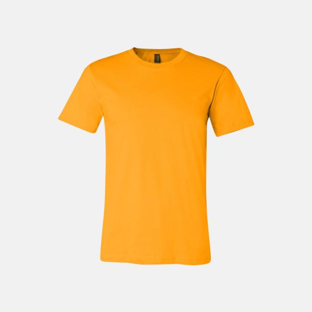 Gold T-shirts för herr och dam - med reklamtryck