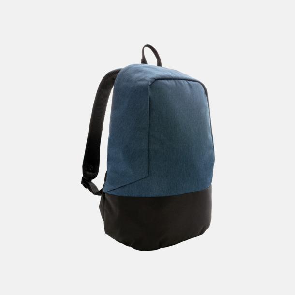 Blå/Svart Ryggsäckar med eget reklamtryck