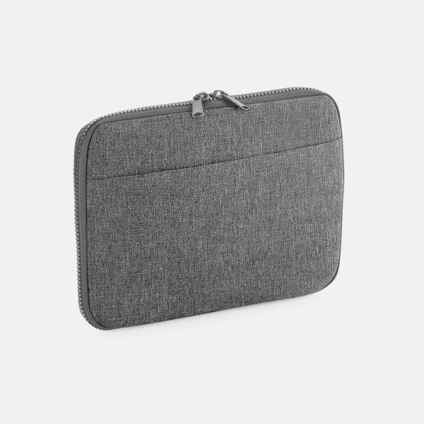 Grey Marl Laptop- & teknikfodral med reklamtryck