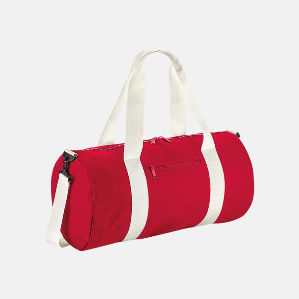 Classic Red/Off White Stora sportväskor på 34 liter med reklamtryck