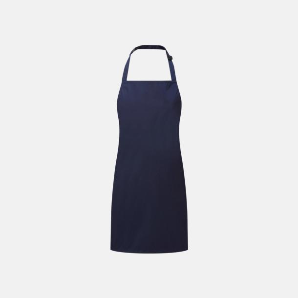 Marinblå Barnförkläden som är vattentäta - med reklamlogo