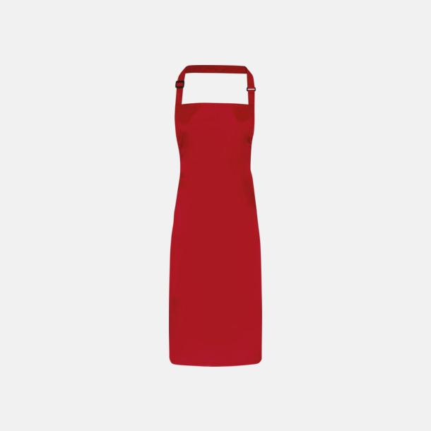 Röd Förkläden som är vattentäta - med reklamlogo