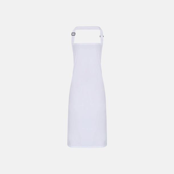 Vit Förkläden som är vattentäta - med reklamlogo
