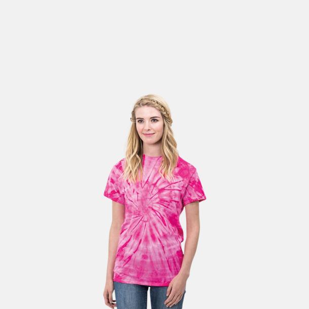 Batikfärgade t-shirts med reklamtryck